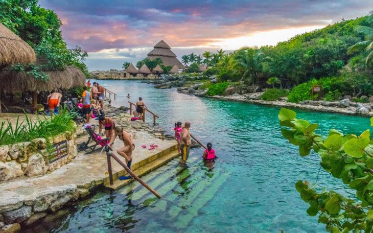 Достопримечательность Мексики - Парк Шкарет