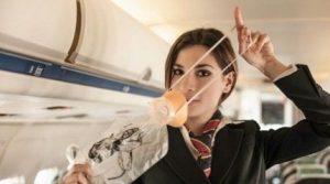 Кислородная маска в самолете