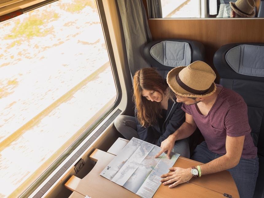 Путешествие на поезде за границей