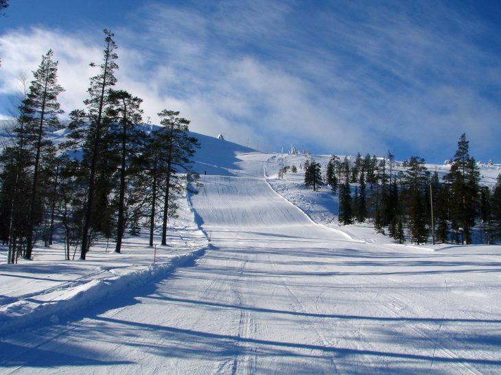 горнолыжный курорт Луосто финляндия