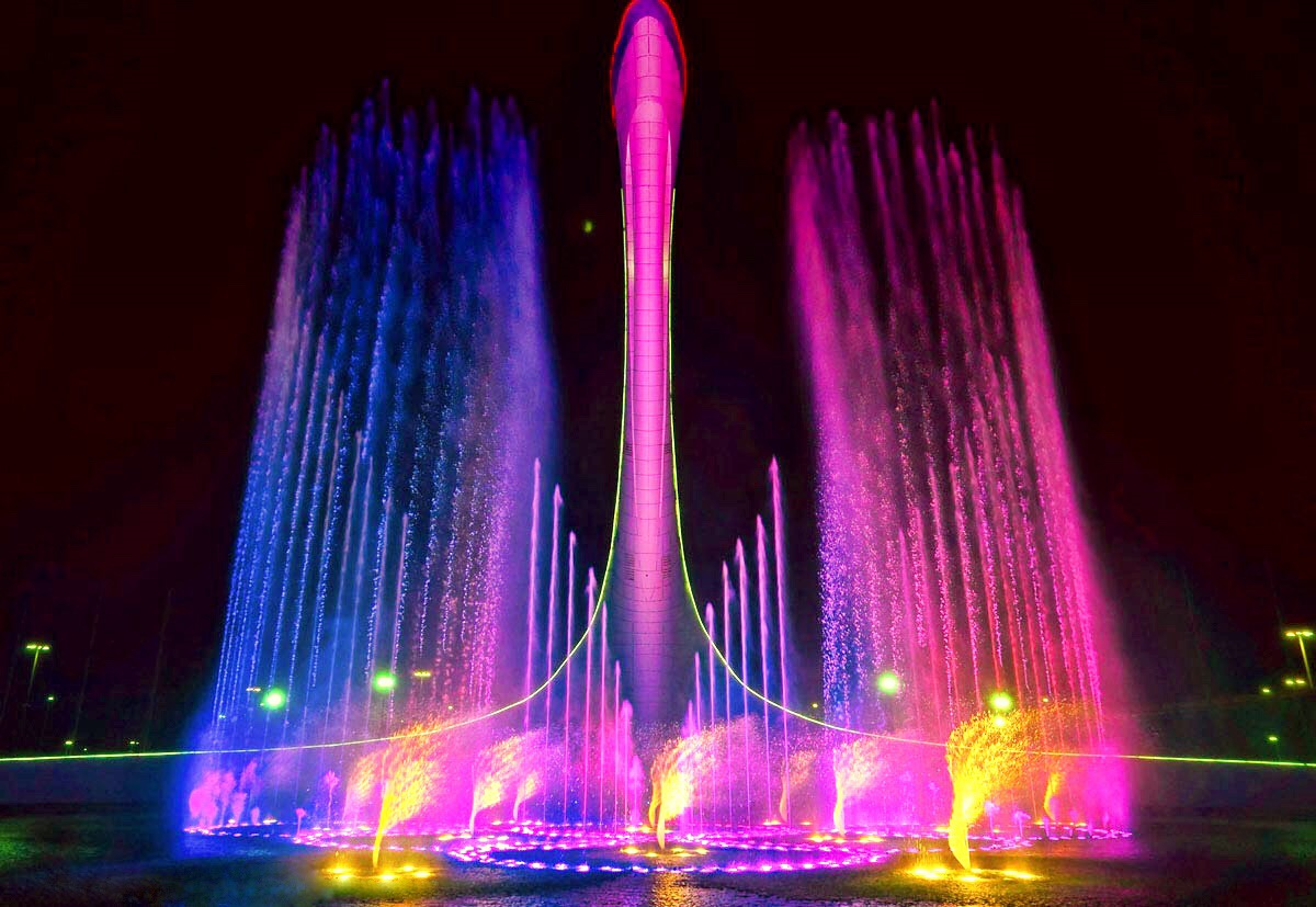 Олимпийский парк в Сочи с поющими фонтанами - расписание, адрес, как добраться