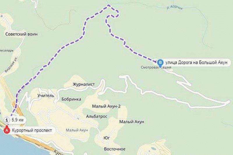 Гора ахун как добраться самостоятельно из адлера