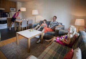 Апартаменты отлично подойдут для проживания семьей