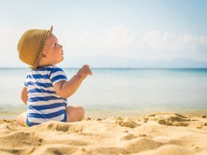 Поход с ребенком на пляж