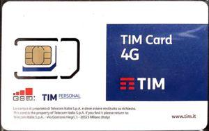 Симкарта TIM в Италии