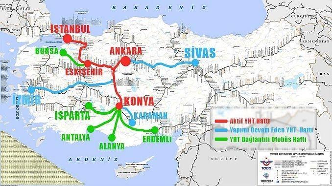 Скоростные поезда в Турции
